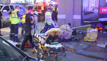5 injured in truck collision in Melbourne's Southbank. Two hospitalized in critical condition