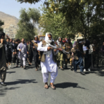Rally against the Taliban in Kabul, the capital of Afghanistan. Taliban fire to disperse thousands of people, including women.