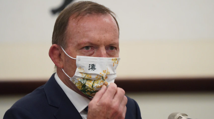 Former Australian PM visits Taiwan. Chinese Foreign Ministry condemns Tony Abbott for sending false signals