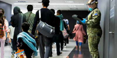 One lakh Afghans apply for refugee status in Australia. Afghans waiting to apply for a humanitarian basic visa